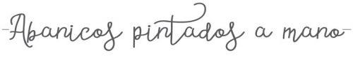 abanicos para eventos, abanicos pintados a mano