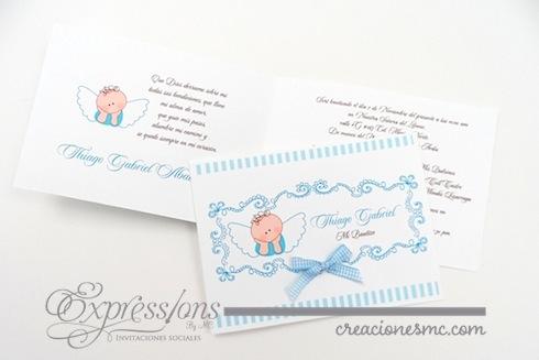 Expressions invitaciones bautizo mod. Angelito - Invitaciones Bautizo y Comunión
