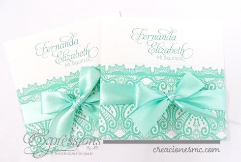 Expressions invitaciones bautizo mod. Fernanda - Invitaciones Bautizo y Comunión