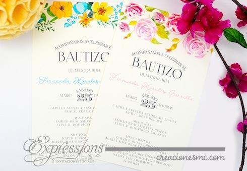 Expressions invitaciones bautizo mod. acuarela - EXPRESSIONS INVITACIONES