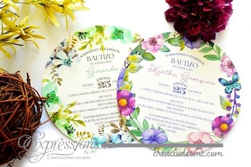 Expressions invitaciones bautizo mod. circular - Invitaciones Bautizo y Comunión
