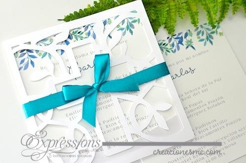 Expressions invitaciones bautizo mod. elegance cruz - Invitaciones Bautizo y Comunión