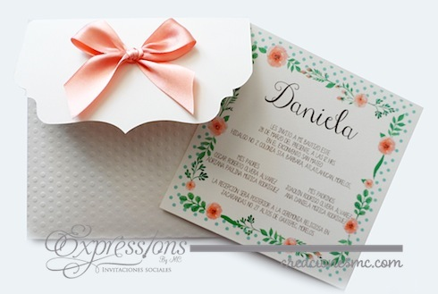 Expressions invitaciones bautizo modelo Daniela - Invitaciones Bautizo y Comunión