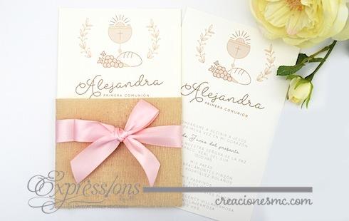 Expressions invitaciones primera comunión mod. Alejandra - Invitaciones Bautizo y Comunión