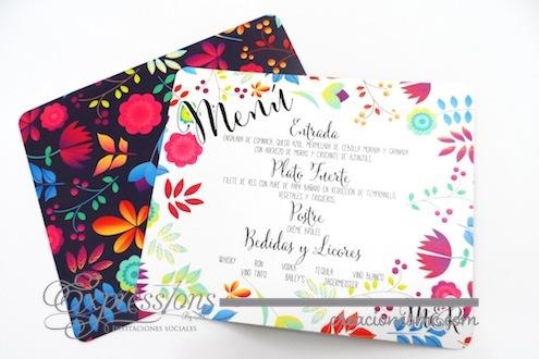 Menu Flores de Colores