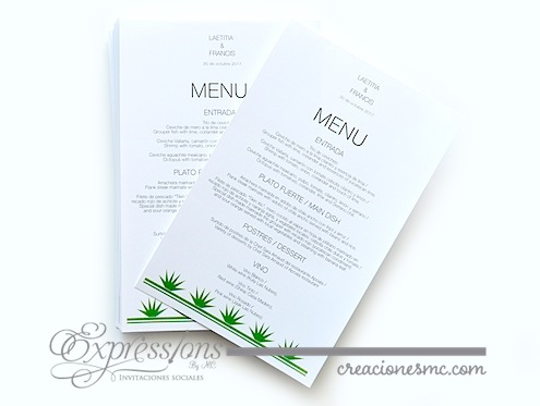 complementos de tarjetería expressions invitaciones menu henequen - Complementos de tarjetería