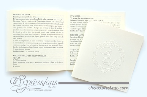 complementos de tarjetería expressions invitaciones misal de boda cuadrado - Complementos de tarjetería