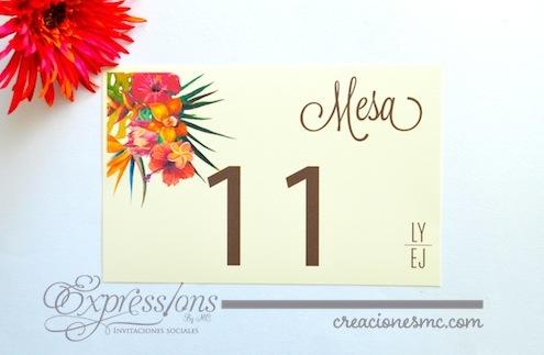complementos de tarjetería expressions invitaciones no de mesa tropical - Complementos de tarjetería