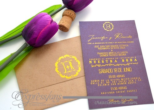 expressions invitaciones boda mod Jennifer y Ricardoo - Invitaciones Boda