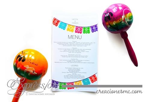 menu mexican chic - Complementos de tarjetería