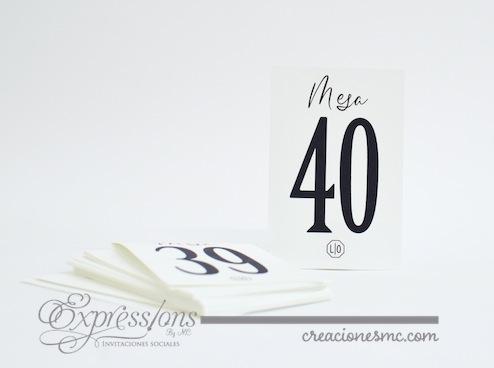 complementos de tarjetería expressions invitaciones no. de mesa clásico - Complementos de tarjetería