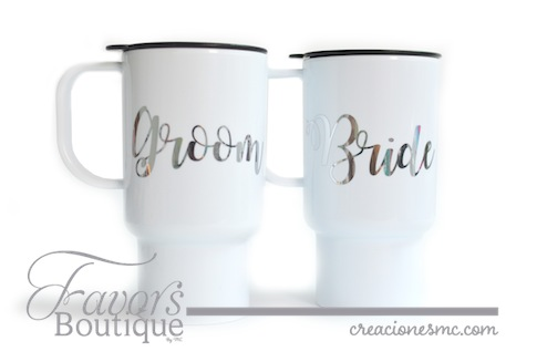 creaciones mc termo bride y groom - FAVORS BOUTIQUE RECUERDOS