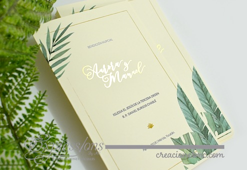 expressions invitaciones misales boda foil dorado - Complementos de tarjetería