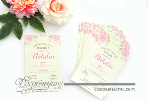 expressions invitaciones bautizo y comunion modelo Natalia - Invitaciones Bautizo y Comunión