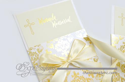 expressions invitaciones bautizo y comunion modelo princess - Invitaciones Bautizo y Comunión