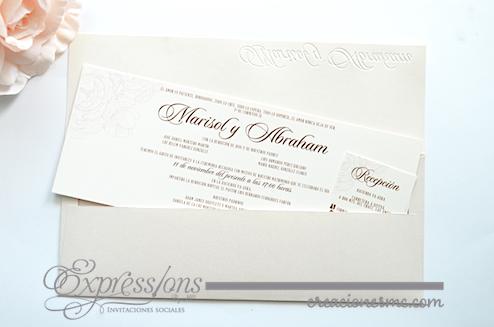 expressions invitaciones boda mod. Marisol1 - Invitaciones Boda