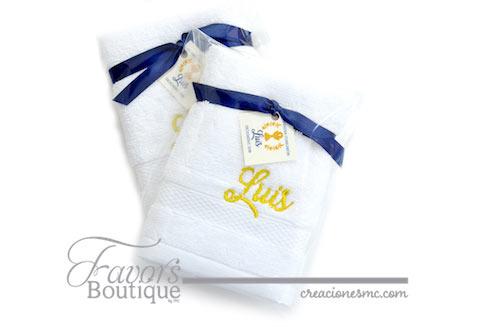 creaciones mc recuerdos bautizo toalla bordada - Recuerdos Bautizo