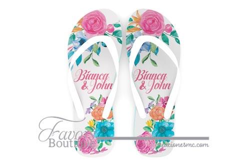creaciones mc recuerdos sandalias a todo color diseño mexicano - Sandalias