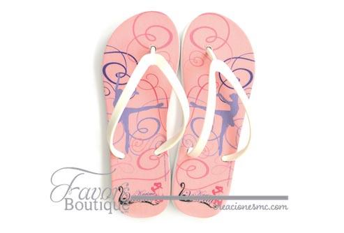creaciones mc sandalias a todo color xv años lago de los cisnes - Sandalias