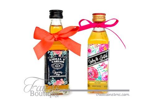 creaciones mc recuerdos boda botellitas licor favors - Recuerdos Boda