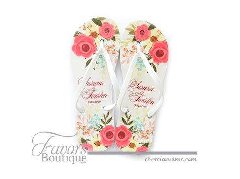 creaciones mc sandalias a todo color boda diseño floral chic - Sandalias