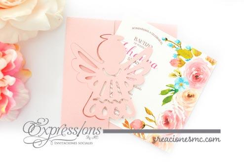 expressions invitaciones bautizo mod. Angelito2 - Invitaciones Bautizo y Comunión