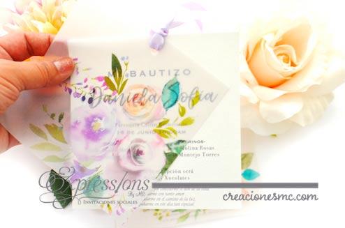 expressions invitaciones bautizo mod. daniela sofia - Invitaciones Bautizo y Comunión