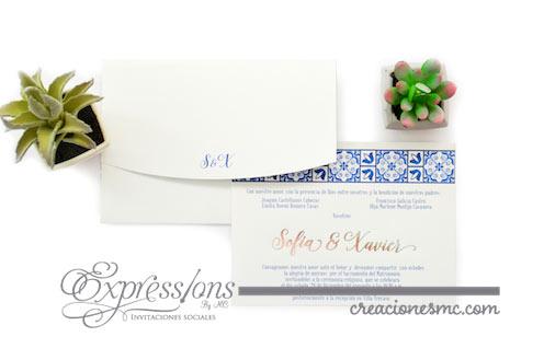 expressions invitaciones boda sofía y javier talavera 1 - Invitaciones Boda