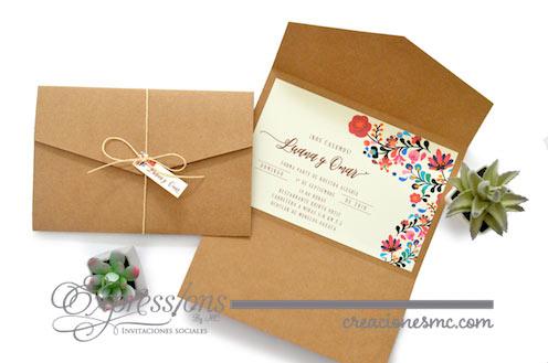 expressions invitaciones de boda luana y omar - Invitaciones Boda