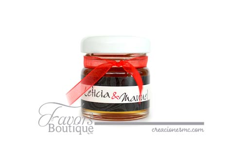 creaciones mc recuerdos boda frasco de miel mini - Recuerdos Boda
