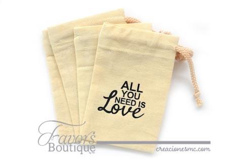 creaciones mc recuerdos costalitos de manta - Bolsas Personalizadas