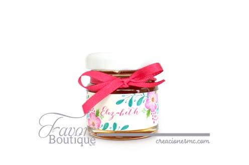 creaciones mc recuerdos xv años frasco de miel mini - Recuerdos XV Años