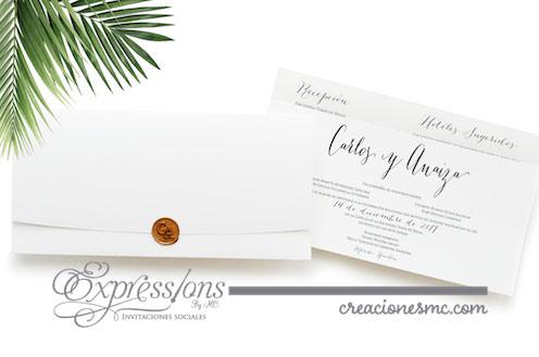 expressions invitaciones boda Carlos y Anaiza - Invitaciones Boda