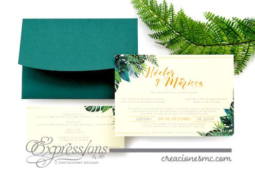 expressions invitaciones boda marissa y hector - Invitaciones Boda
