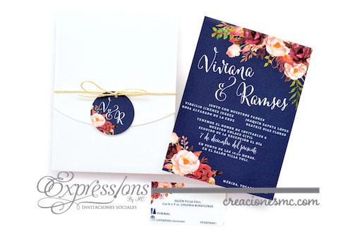 expressions invitaciones boda viviana - Invitaciones Boda