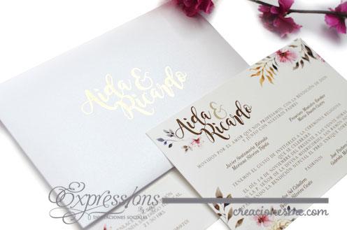 expressions invitaciones boda aida y ricardo - Invitaciones Boda