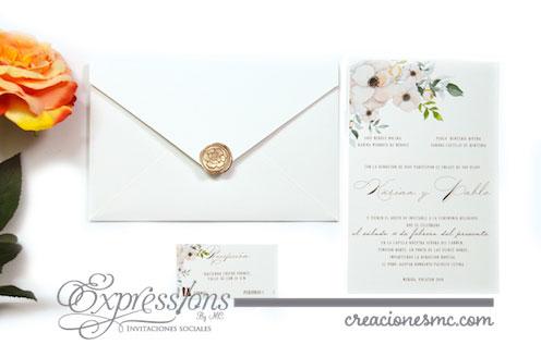 expressions invitaciones boda karina y pablo - Invitaciones Boda