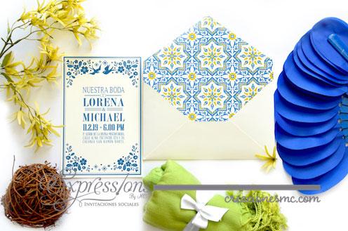 expressions invitaciones boda lorena y michael - Invitaciones Boda