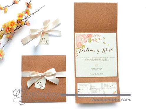 expressions invitaciones boda mod Paloma y raul - Invitaciones Boda
