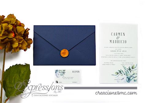 expressions invitaciones boda mod carmen y mauricio - Invitaciones Boda