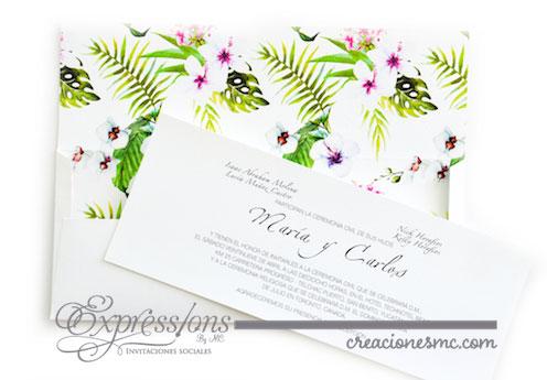 expressions invitaciones boda mod maria y carlos - Invitaciones Boda