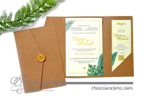 expressions invitaciones boda mod. Aurora1 - Invitaciones Boda