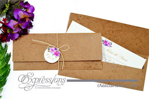 expressions invitaciones boda mod. socorro y orlando - Invitaciones Boda