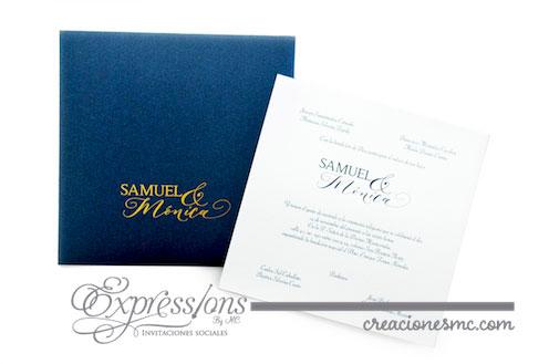 expressions invitaciones boda modelo Samuel y Mónica - Invitaciones Boda