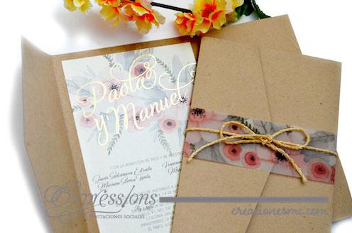 expressions invitaciones boda paola y manuel - Invitaciones Boda