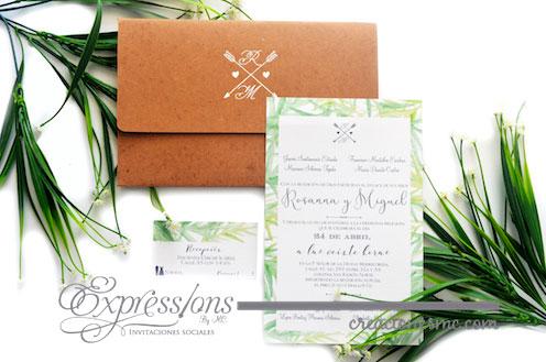 expressions invitaciones boda rosanna y miguel - Invitaciones Boda
