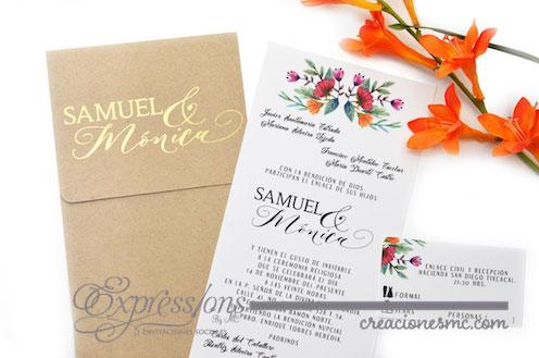 expressions invitaciones boda samuel y monica - Invitaciones Boda