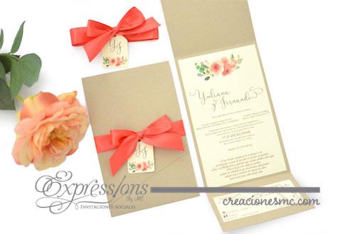expressions invitaciones de boda yuliana y fernando - Invitaciones Boda