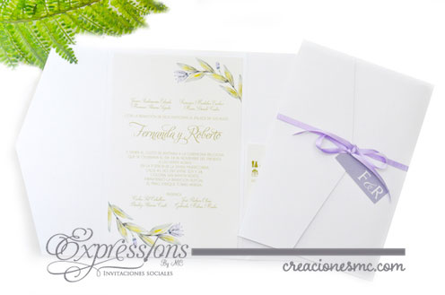 expressions invitaciones fernanda y roberto - Invitaciones Boda