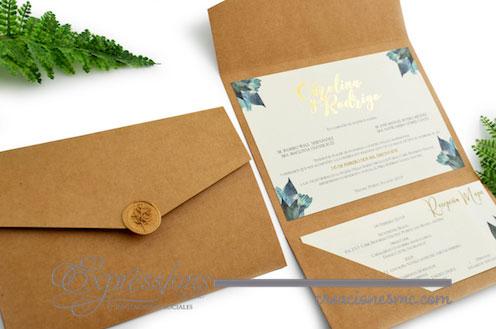 expressions invitaciones mod. carolina y rodrigo - Invitaciones Boda